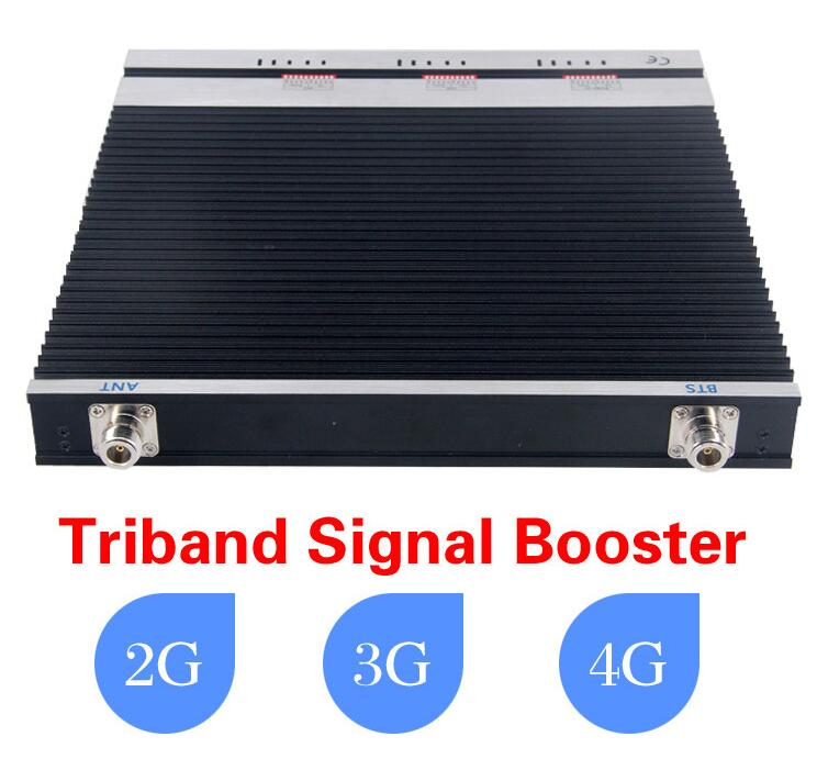 GSM900 1800mhz 2600mhz Tri band Antenna Amplifier , 900 1800